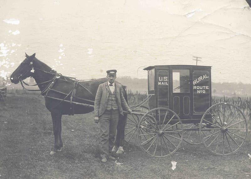 1910 mail delivery