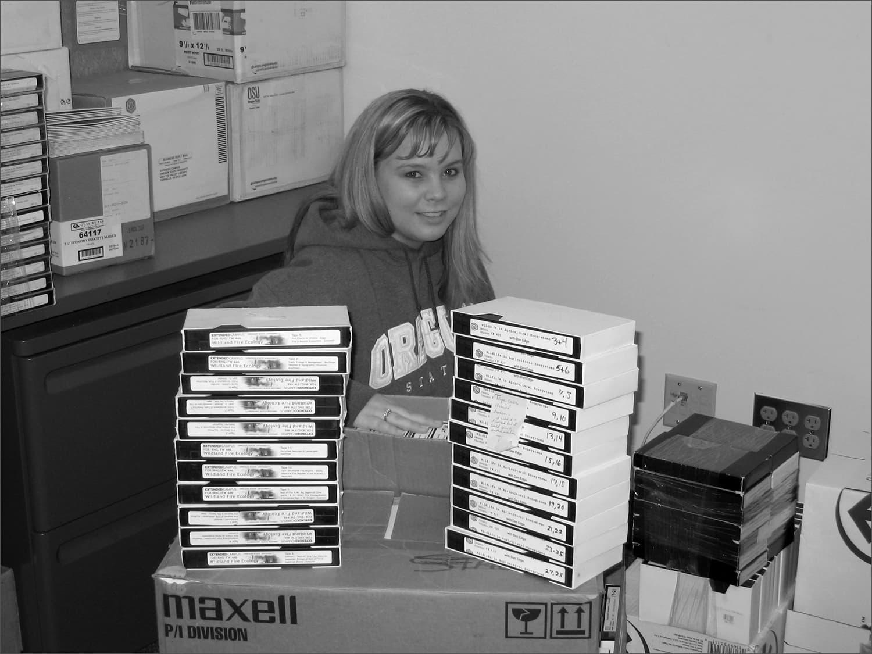 1982 VHS stacks