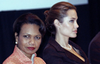 Condolezza Rice and Angelina Jolie