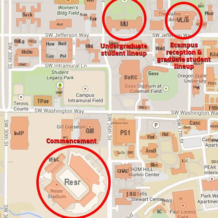 Oregon State University Campus Map Graduation Information – Student Services | Oregon State Ecampus
