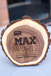 AMA PDX 2014 trophy for Ecampus