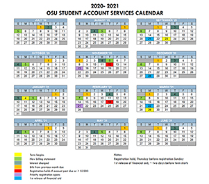 2020-21 student accounts calendar