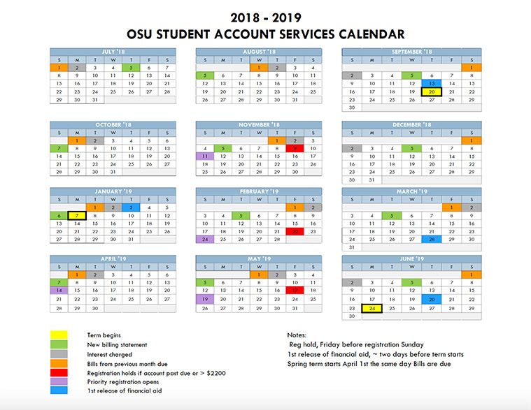 2018 19 student accounts calendar
