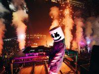 Marshmello performing live in Abu Dhabi. (Photo by Jake Chamseddine)