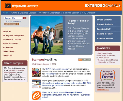 Ecampus Home Page
