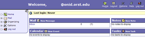 ONID Webmail Tool Interface