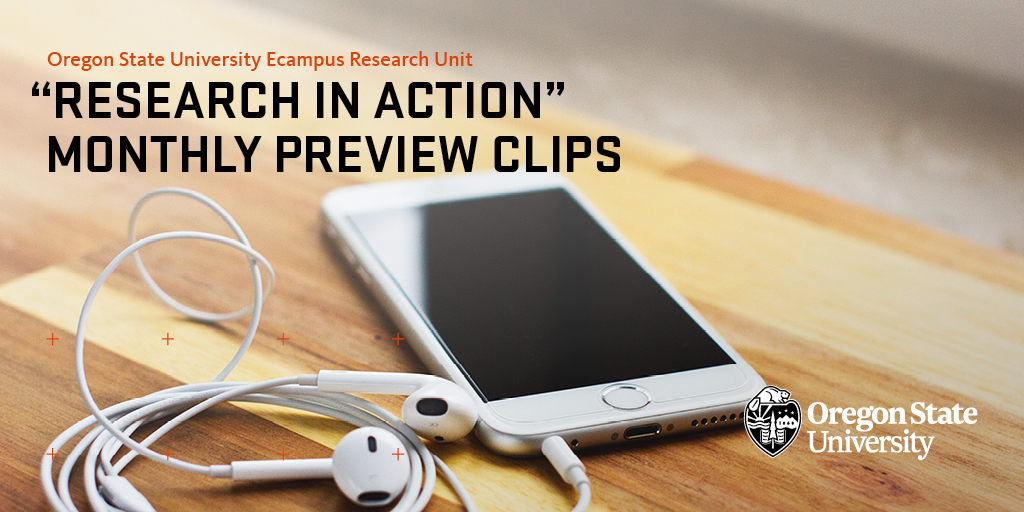 """Research in Action"" Preview Clips. iPod with headphones in background."